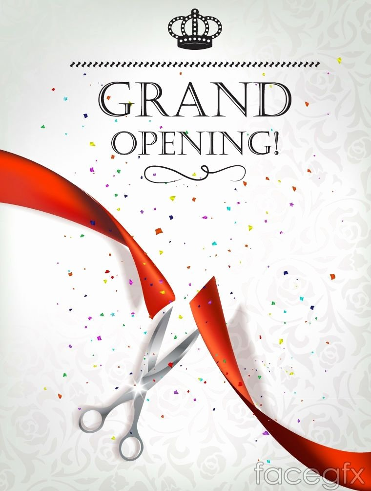 Grand Opening Invitation Template Free Fresh Exquisite Opening Ceremony Invitation Poster Vector