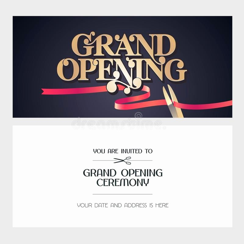 Grand Opening Invitation Template Free Fresh Grand Opening Vector Illustration Background Invitation