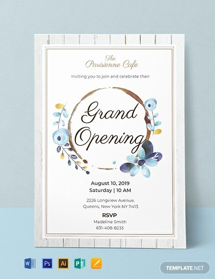 Grand Opening Invitation Template Free Inspirational 19 Opening Invitation Templates Psd Ai