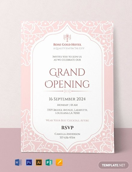 Grand Opening Invitation Template Free New Free Grand Opening Invitation Card Template Download 636