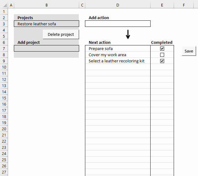 Gtd Project Planning Template New Excel Template Getting Things Done [vba]
