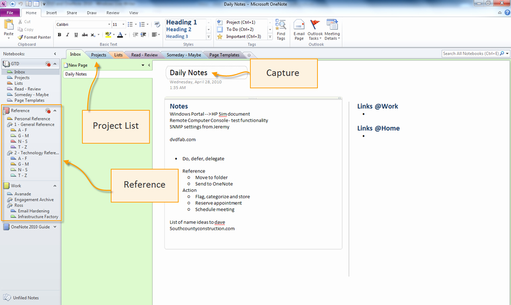 Gtd Project Planning Template New Gtd with Outlook 2010 and Enote 2010 – Overview