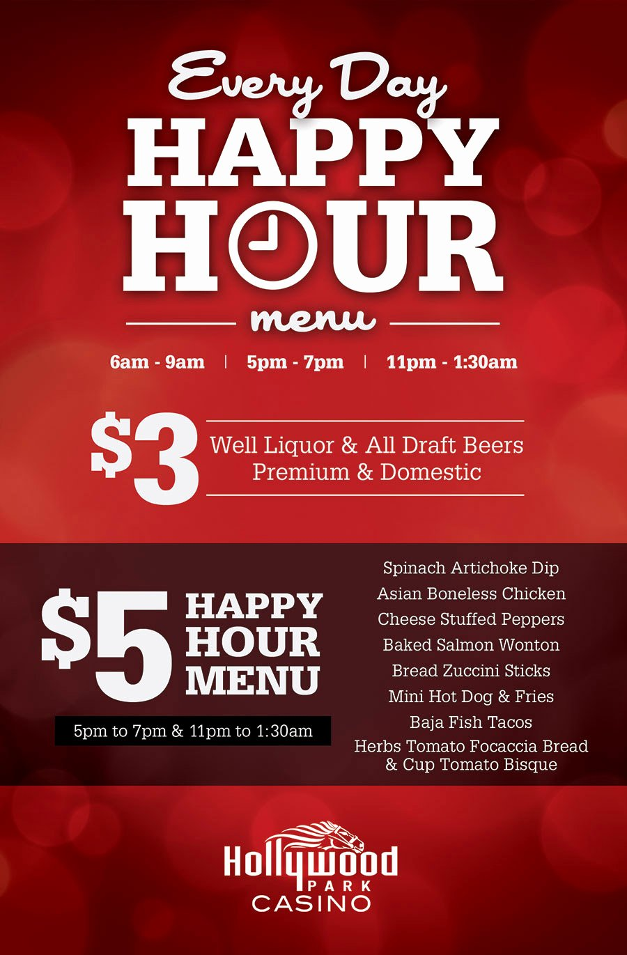 Happy Hour Invitation Email Template Fresh Hollywood Park Casino • Dining