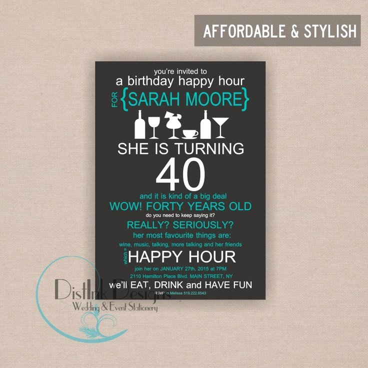 Happy Hour Invitation Email Template Unique Happy Birthday Invitation Wording