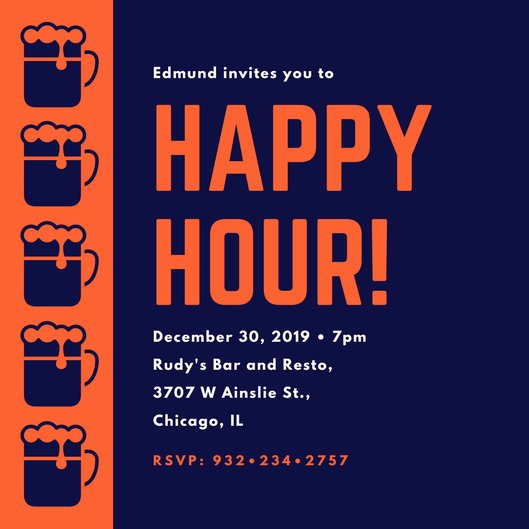 Happy Hour Invitation Template Awesome Happy Hour Invitation Templates Canva