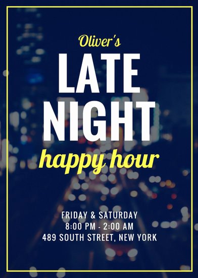 Happy Hour Invitation Template Beautiful Customize 171 Happy Hour Flyer Templates Online Canva