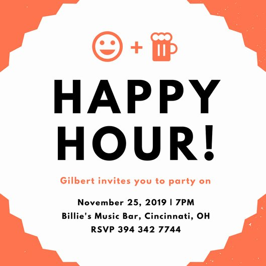 Happy Hour Invitation Template Best Of Happy Hour Invitation Templates Canva