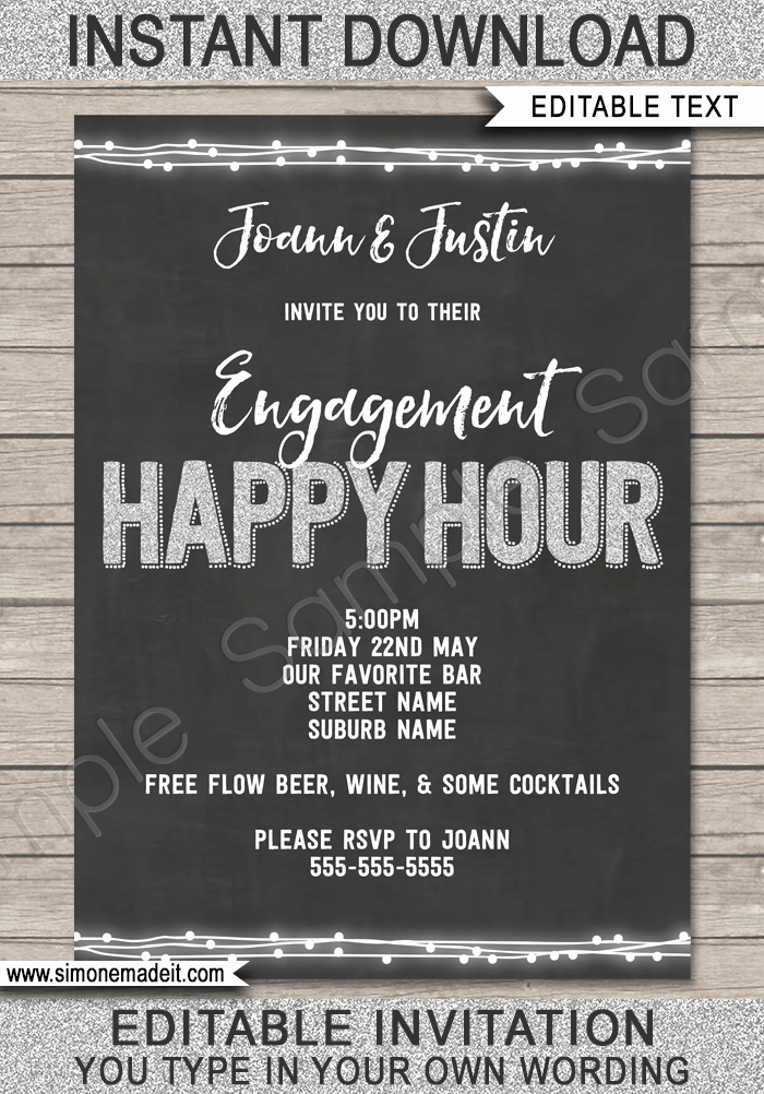 Happy Hour Invitation Template Best Of Happy Hour Invite Template