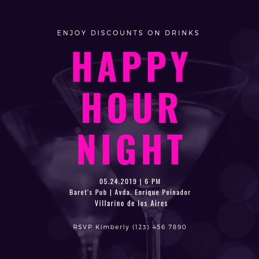 Happy Hour Invitation Template Fresh Customize 101 Happy Hour Invitation Templates Online Canva