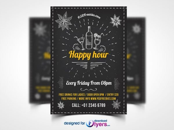 Happy Hour Invitation Template Lovely Flyer
