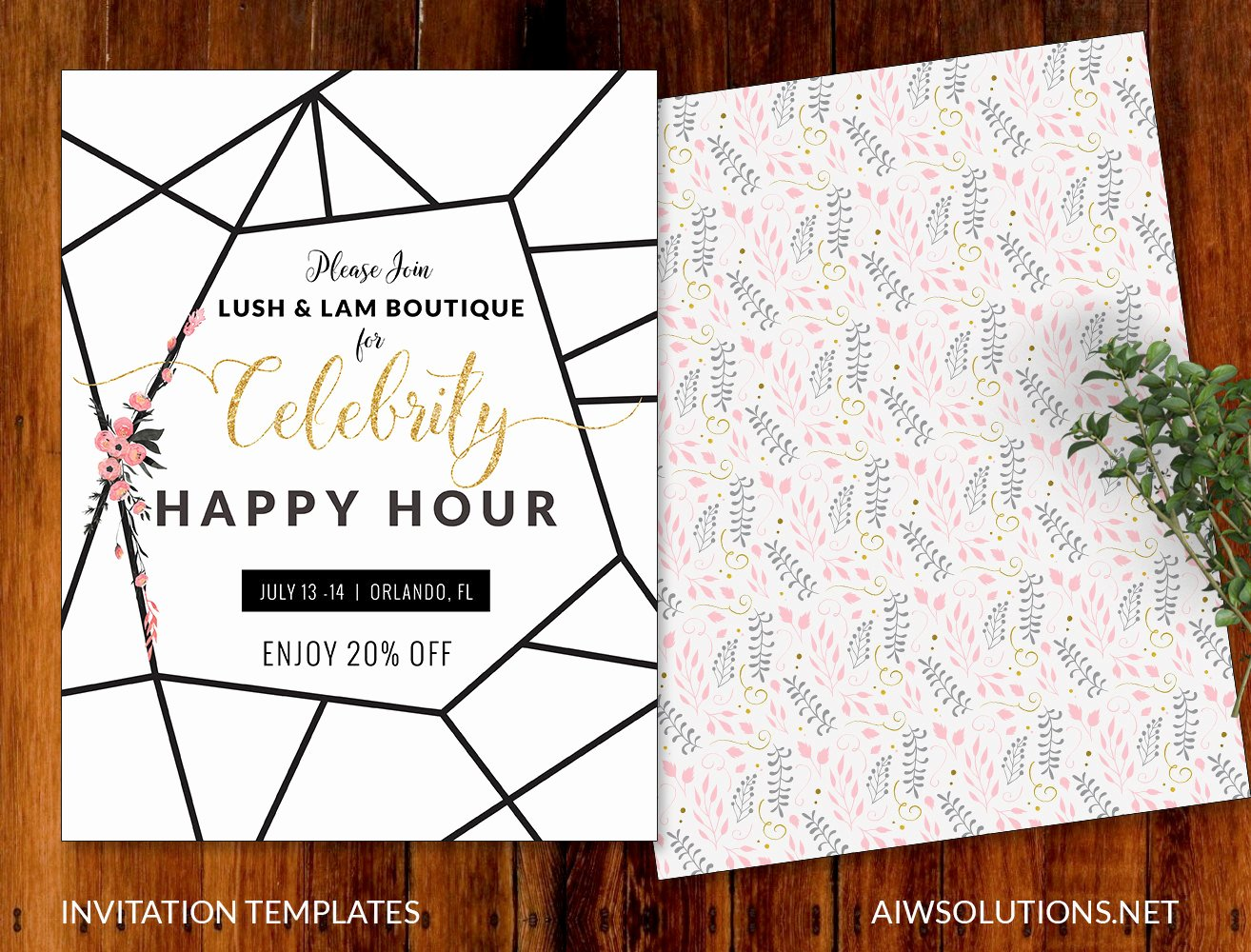 Happy Hour Invitation Template Luxury Invitations event Template Save the Date Template Flyer