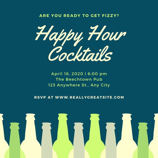 Happy Hour Invitation Template New Customize 74 Happy Hour Invitation Templates Online Canva