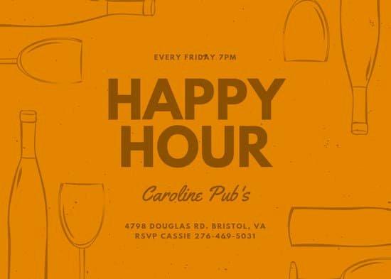 Happy Hour Invitation Template Unique Customize 88 Happy Hour Invitation Templates Online Canva