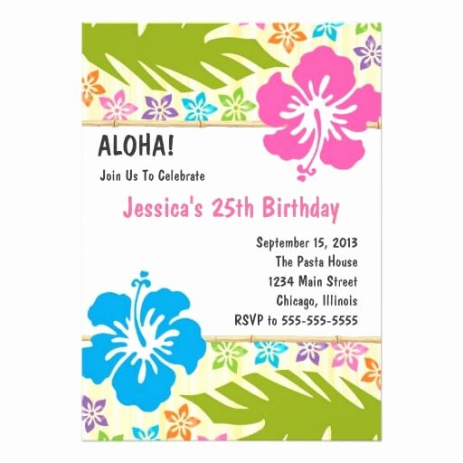 Hawaiian themed Invitation Template Best Of Free Hawaiian Invitation Template