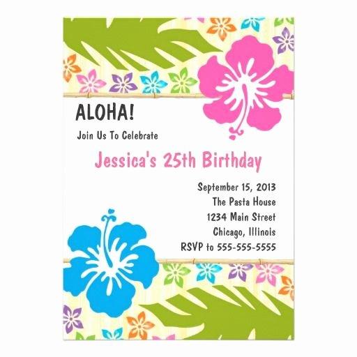 Hawaiian themed Invitation Template Best Of Free Hawaiian themed Invitation Templates