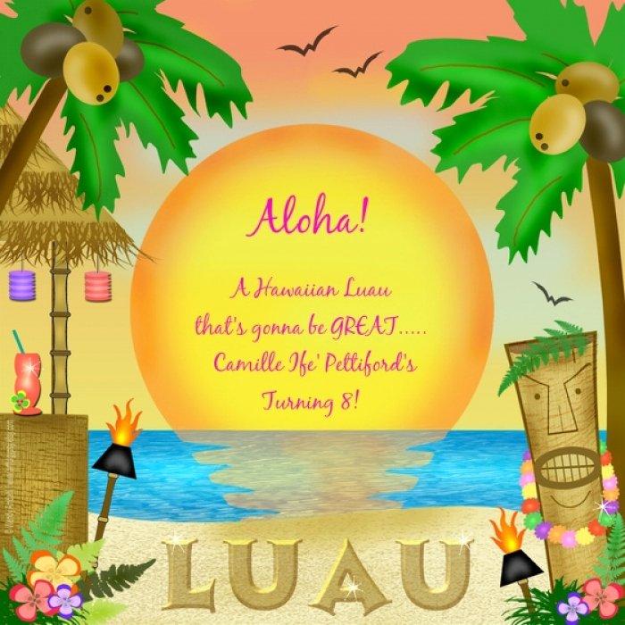 Hawaiian themed Invitation Template Fresh Beautiful Hawaiian themed Invitation Templates Free
