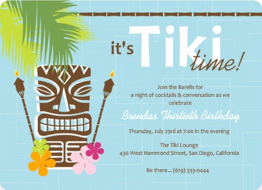 Hawaiian themed Invitation Template Fresh Luau Invitation Wording Ideas