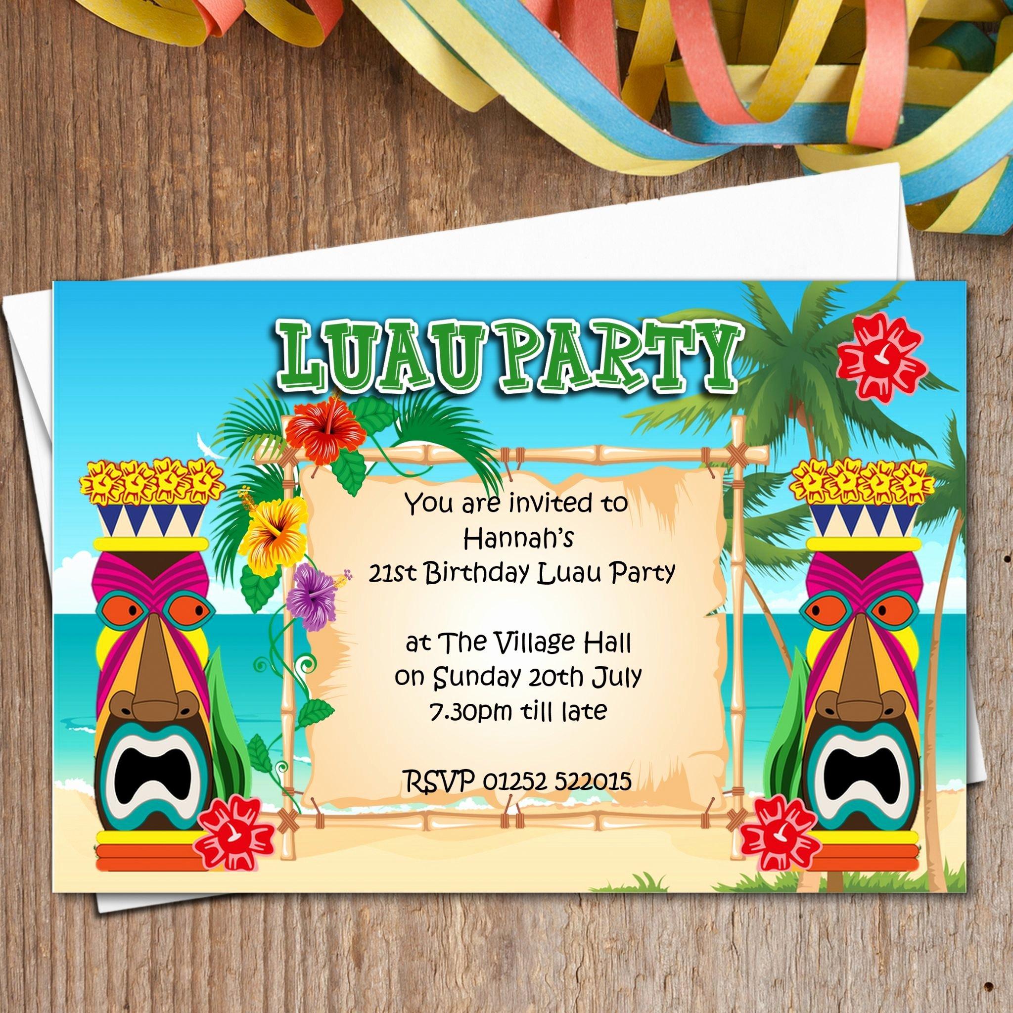 Hawaiian themed Invitation Template Inspirational 5 Impactful Hawaiian theme Party Invitations