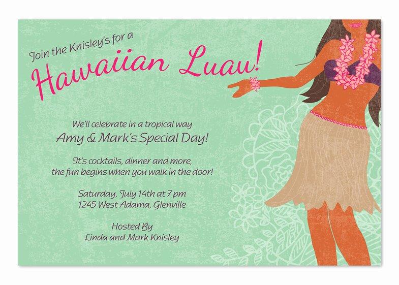 Hawaiian themed Invitation Template Luxury Hawaiian Luau Party Invitations by Invitation