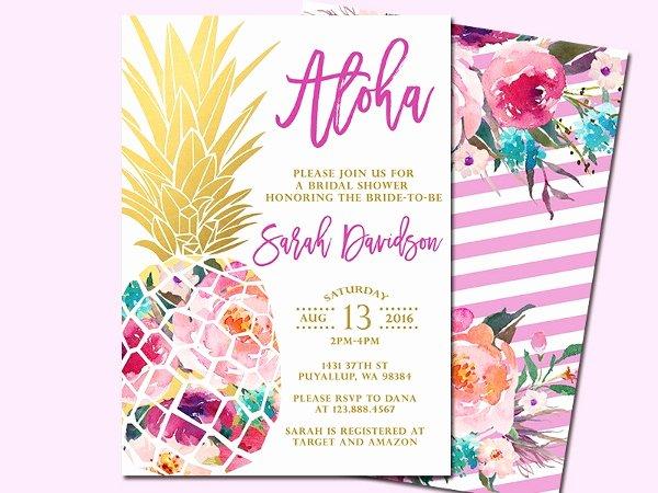 Hawaiian themed Invitation Template Unique 14 Luau Invitation Designs & Templates Psd Ai