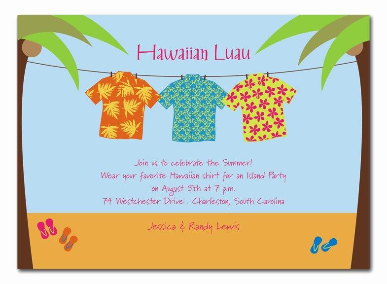Hawaiian themed Invitation Template Unique Hawaiian Shirts Party Invitations by Invitation