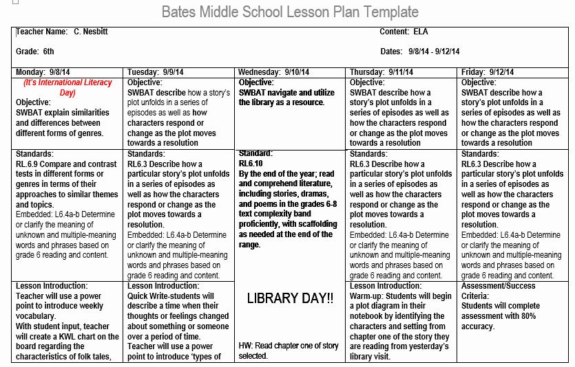 Head Start Lesson Plan Template Best Of Sample Lesson Plan Professional E Portfolio for Carol F