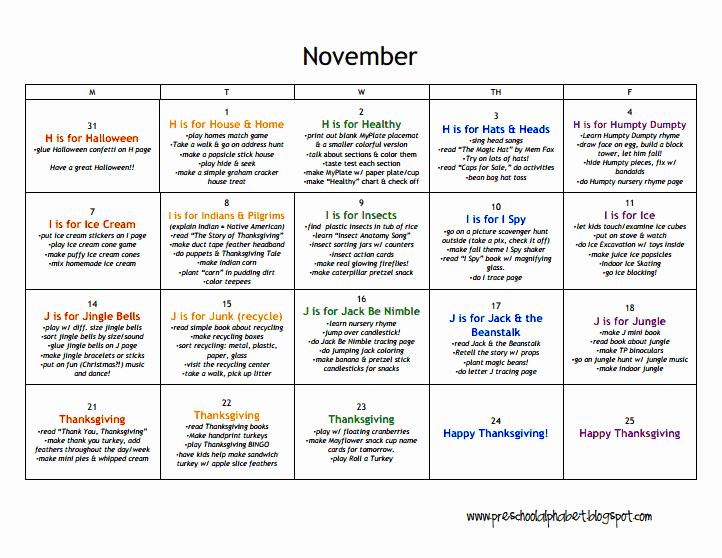 Head Start Lesson Plan Template Fresh Lesson Plans Preschool November Pdf