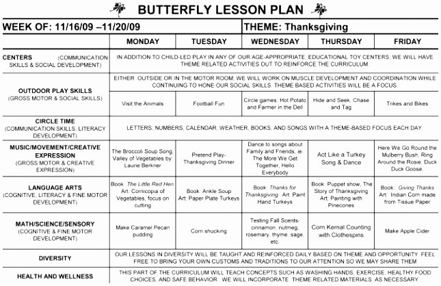 Head Start Lesson Plan Template Unique Teacher Lesson Plan Free Head Start Lesson Plan Template