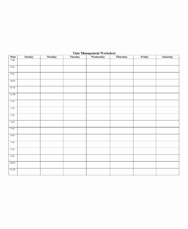 High School Schedule Template Luxury Time Management Template for Students – Vseo Tefo