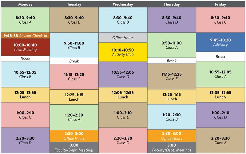 High School Schedule Template Unique Elementary Block Scheduling Templates to Pin On