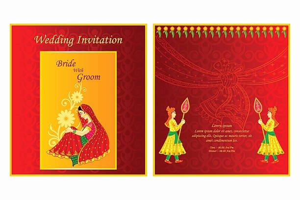 Hindu Wedding Invitation Template Awesome Best Hindu Wedding Illustrations Royalty Free Vector