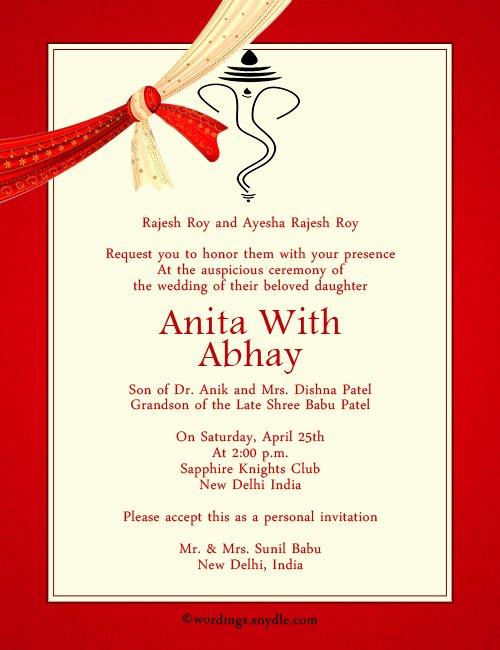 Hindu Wedding Invitation Template Awesome Indian Wedding Invitation Wording Samples Wordings and