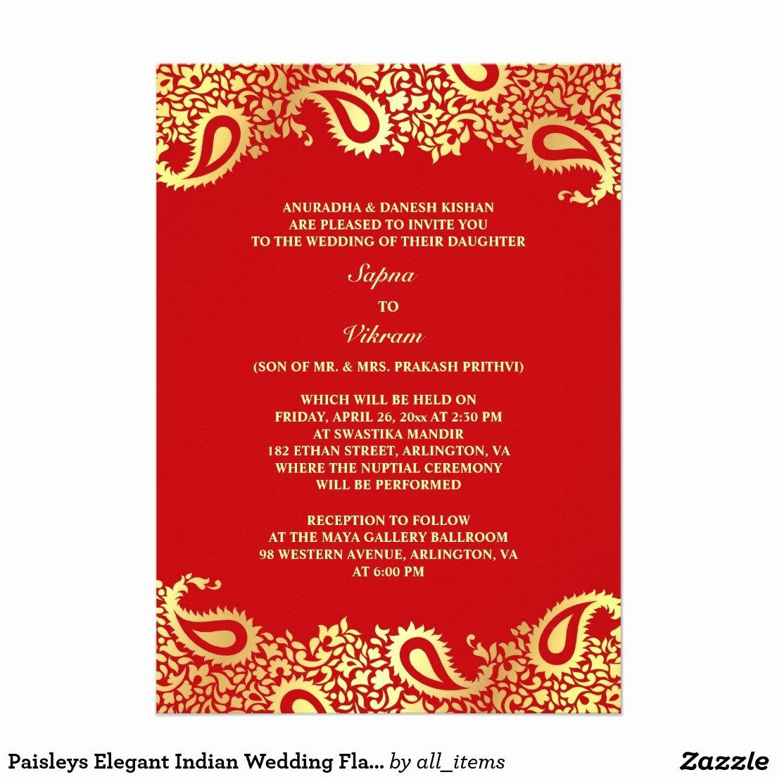Hindu Wedding Invitation Template Awesome Indian Wedding Invitations Templates