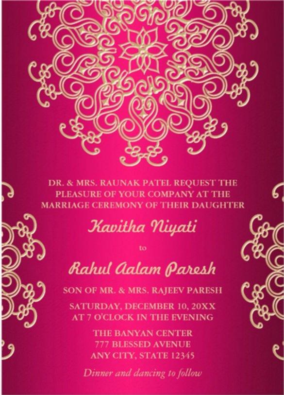 Hindu Wedding Invitation Template Fresh Indian Wedding Card Templates Free Download