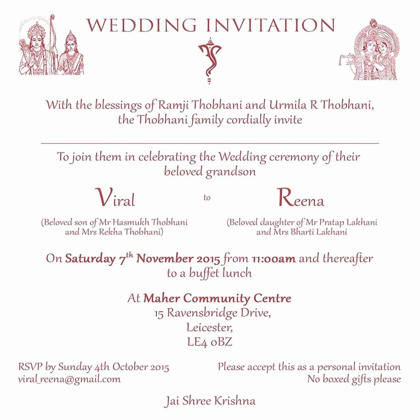 Hindu Wedding Invitation Template Lovely Hindu Wedding Invitation Wordings Here to View Our