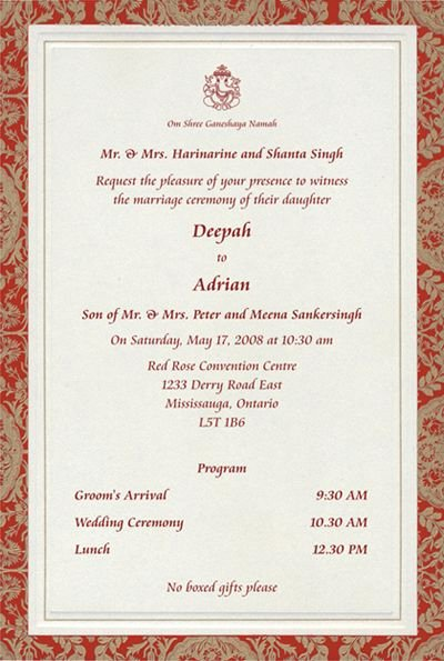 Hindu Wedding Invitation Template Lovely to Magnify Shrink In 2019