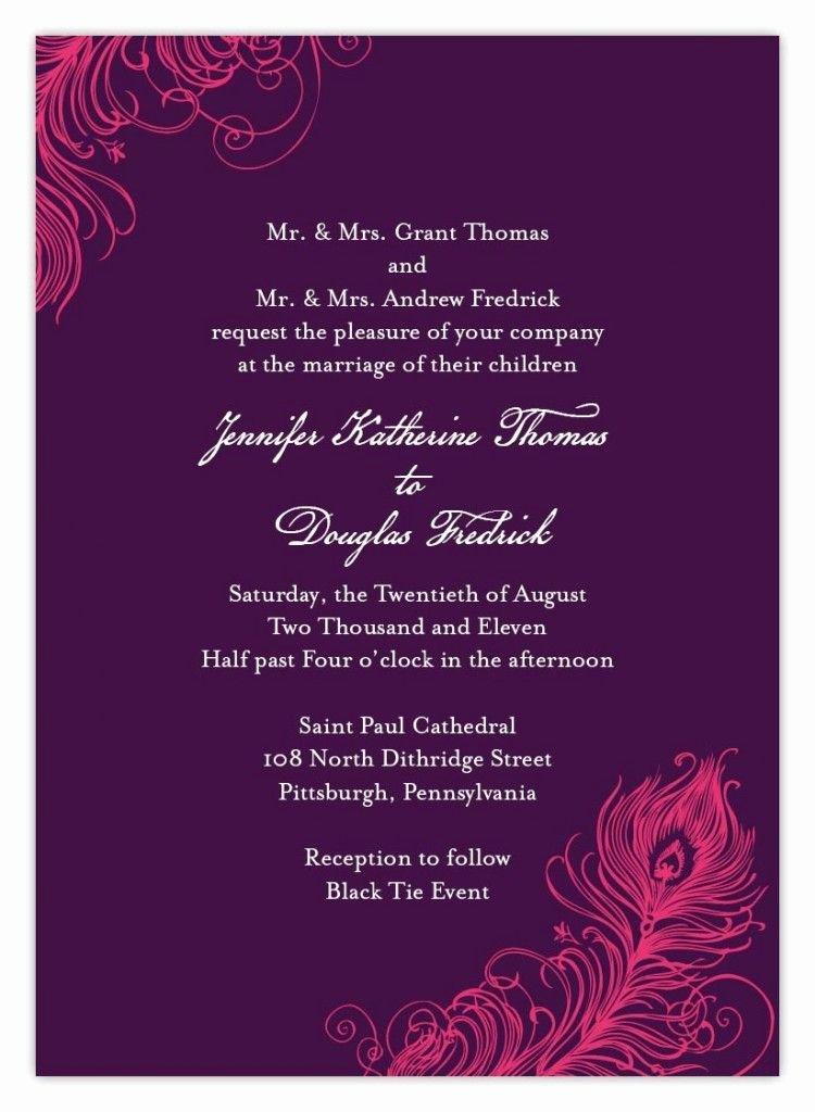 Hindu Wedding Invitation Template Luxury Indian Wedding Invitation Wording Template