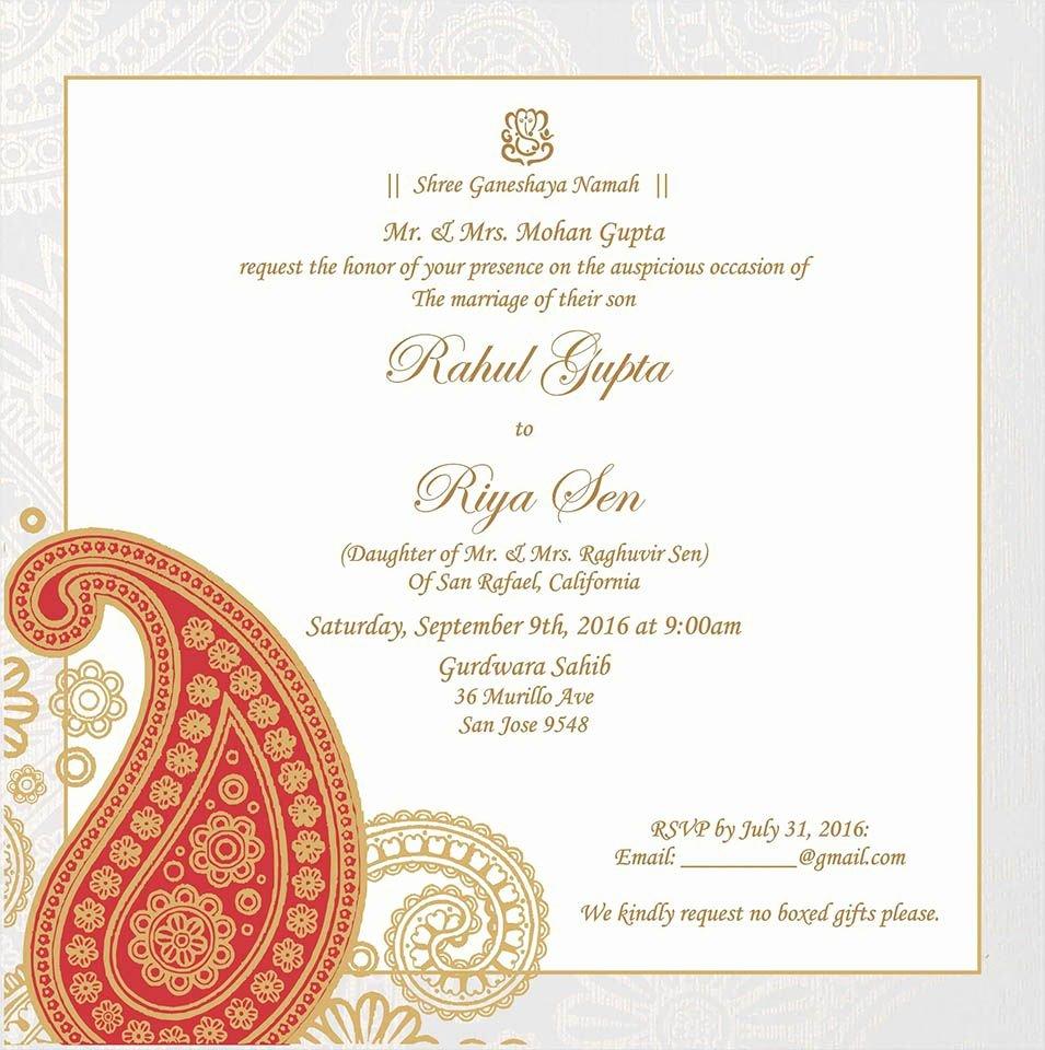 Hindu Wedding Invitation Template Luxury Wedding Invitation Wording for Hindu Wedding Ceremony In