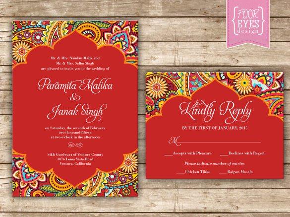Hindu Wedding Invitation Template Unique 35 Traditional Wedding Invitations Psd