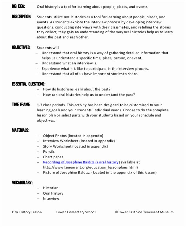 History Lesson Plan Template Best Of 47 Lesson Plan Samples