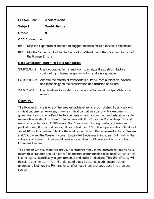 History Lesson Plan Template Best Of Teaching American History – Lesson Plan Template social