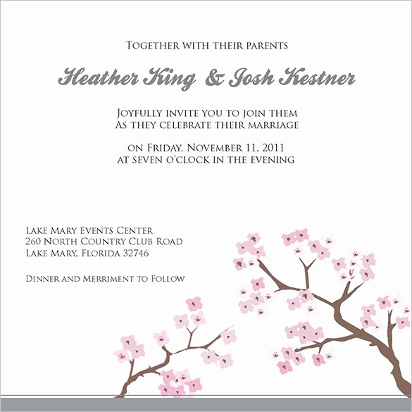 Hobby Lobby Wedding Invitations Template New Wedding Invitation Template 71 Free Printable Word Pdf