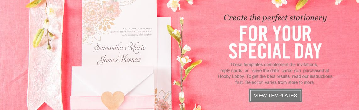 Hobby Lobby Wedding Invitations Template Unique Wedding Templates