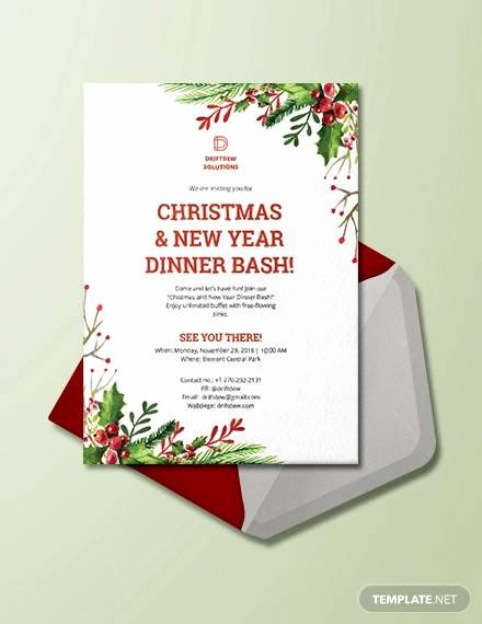 Holiday Dinner Invitation Template Awesome 33 Dinner Invitation Templates Psd Vector Eps Word