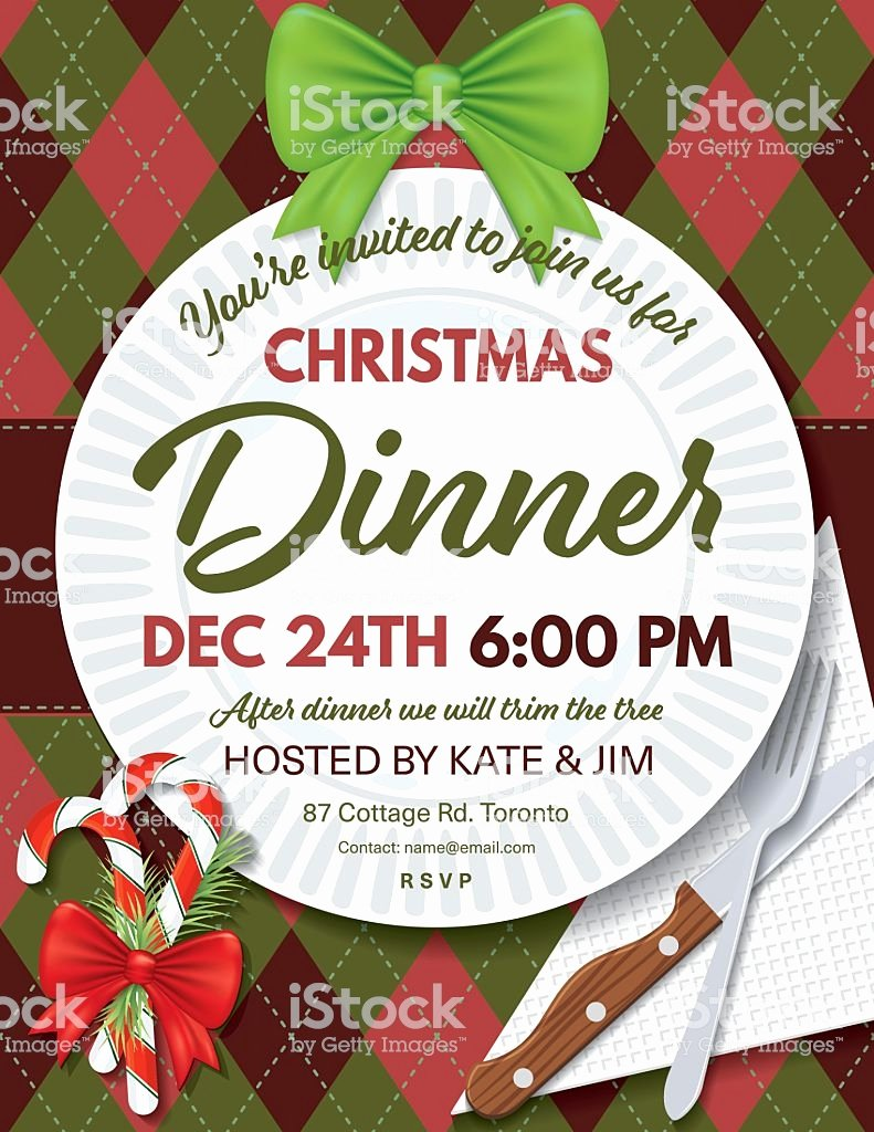 Holiday Dinner Invitation Template Beautiful Argyle Tablecloth Christmas Dinner Invitation Template
