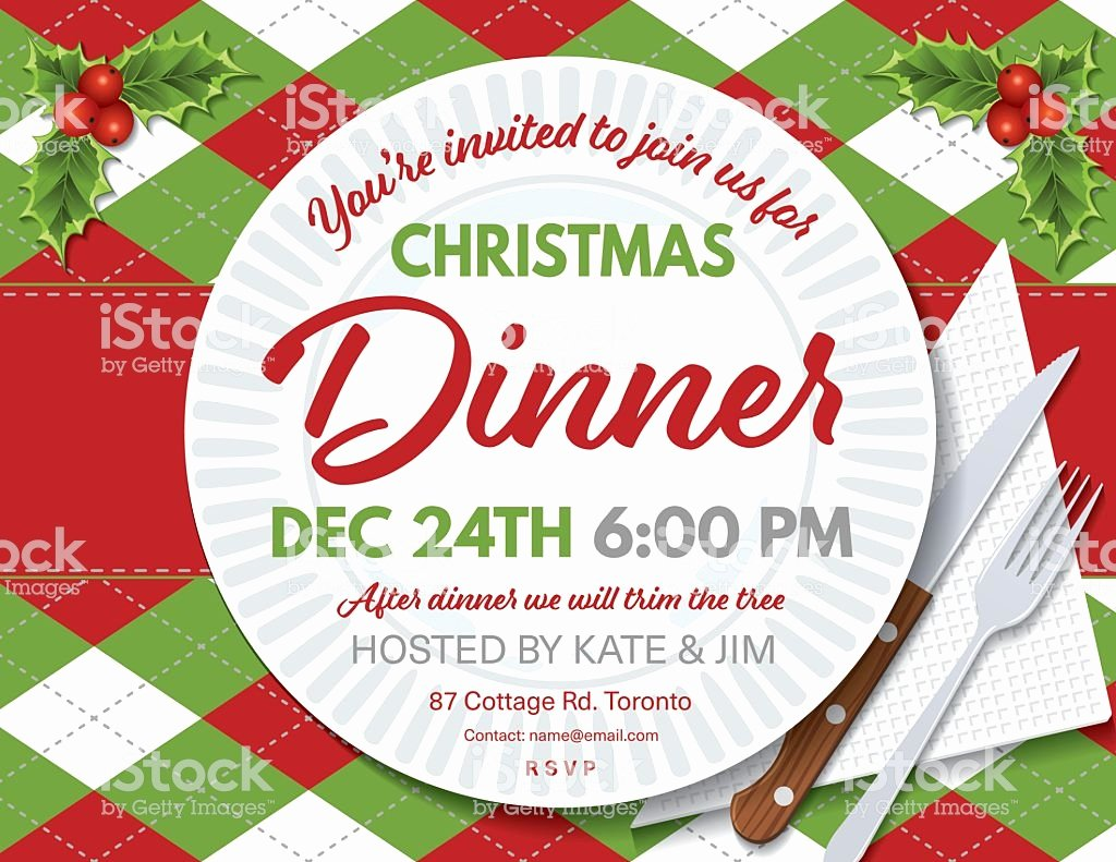 Holiday Dinner Invitation Template Beautiful Argyle Tablecloth Christmas Dinner Invitation Template