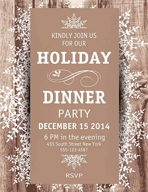 Holiday Dinner Invitation Template Beautiful Best Christmas Dinner Illustrations Royalty Free Vector