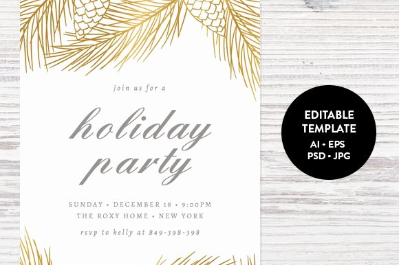 Holiday Dinner Invitation Template Best Of Holiday Party Invitation Template Invitation Templates