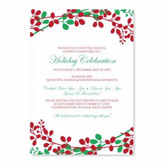 Holiday Dinner Invitation Template Elegant Christmas Dinner Invitation Template by Loveandpartypaper