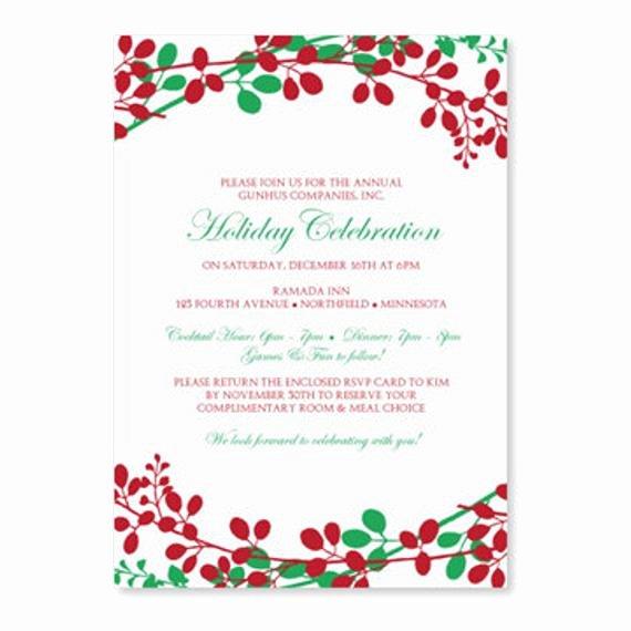 Holiday Dinner Invitation Template Elegant Christmas Dinner Invitation Template by Loveandpartypaper